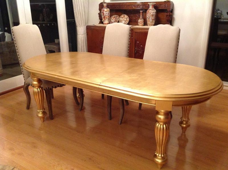 Gold Carla Van Tiggelen Dining Table